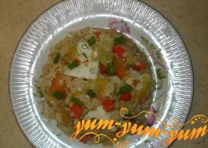 Паэлья с овощами и рыбным филе рецепт с фото