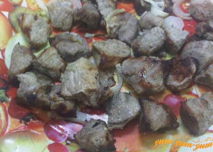 готовое мясо в аэрогриле