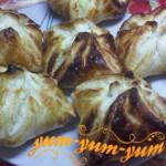 Пирожки из слоеного теста с картошкой рецепт с фото