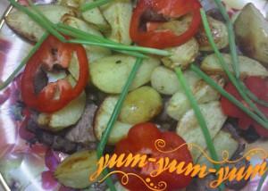 Картошка с мясом в аэрогриле рецепт с фото
