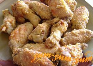 Куриные крылышки в панировке рецепт с фото