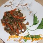 Куриные желудки под соевым соусом рецепт с фото