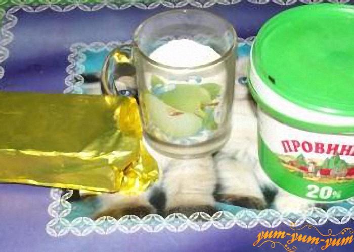 масло сахар и сметана для блинов