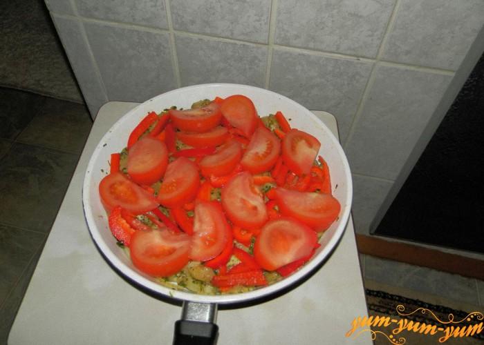 накрываем все помидорами