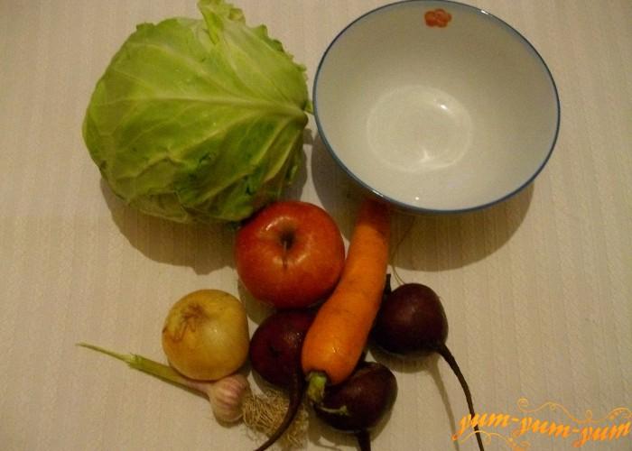 необходимые овощи для салата