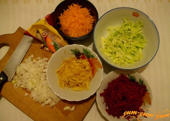 овощи трем на терке