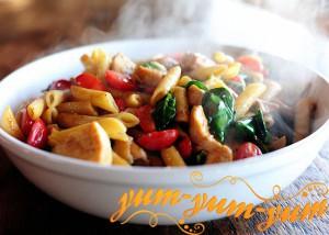 Паста с курицей по-флорентийски рецепт фото