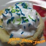 украшаем готовое пирожное