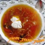 Борщ со свининой по-московски рецепт с фото