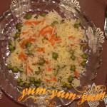 Рис с горошком запеченный в духовке рецепт с фото