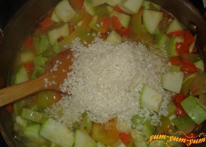 рис варим с овощами
