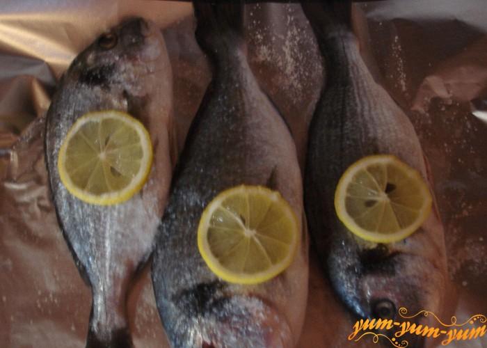 рыбу солим и запекаем в духовке