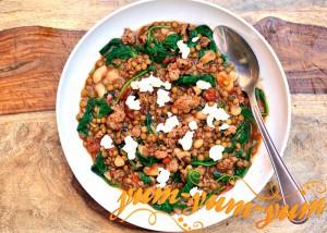 Суп из чечевицы с копчеными колбасками рецепт с фото