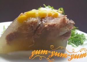 Свиной холодец с кукурузой рецепт с фото