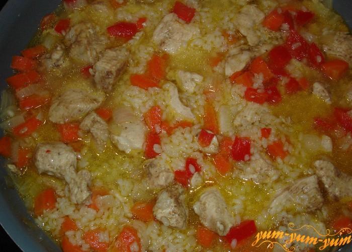 варим вместе с рисом и овощами
