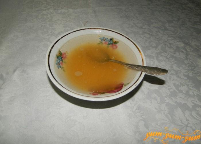 замочить желатин в воде