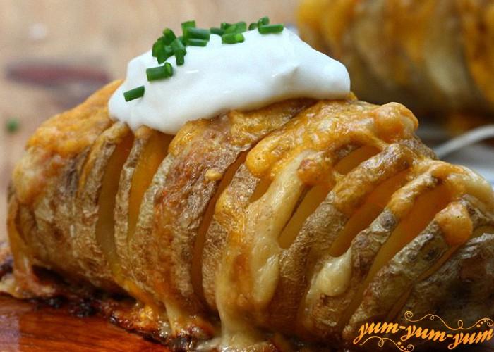 зубчатый картофель готов
