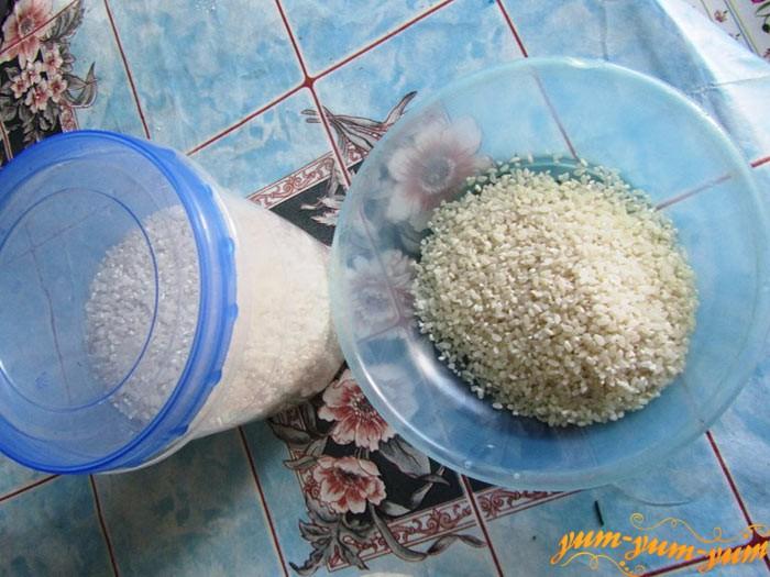 Добавляем рис в кабачки с фасолью