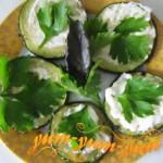 Готовые кабачки под соусом из майонеза