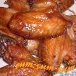 Готовые копченые куриные крылышки