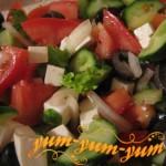 Готовый греческий салат на новый лад