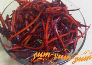 салат из моркови и свеклы с чесноком