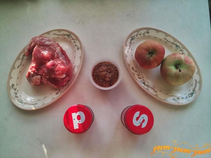 Ингредиенты для приготовления мяса в фольге