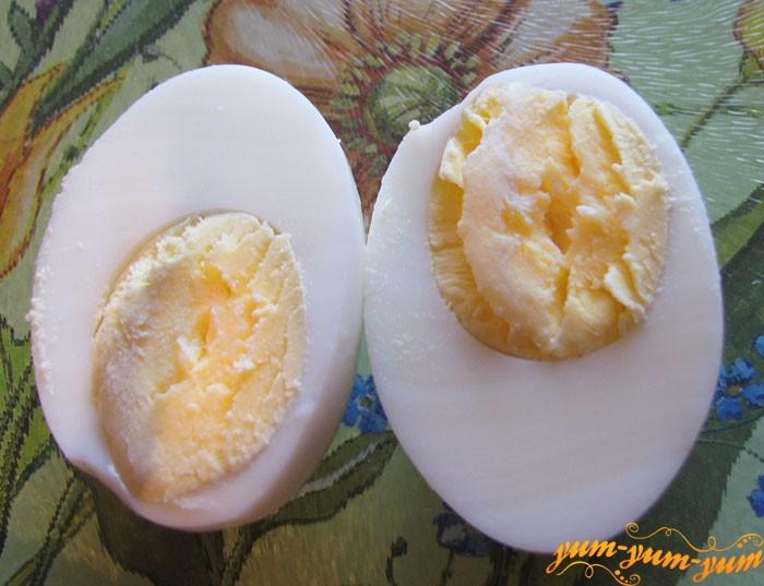 Отваренные яйца режим кубиками