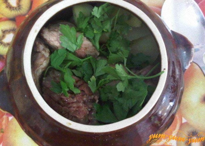 Готовим рагу с мясом и грибами в аэрогриле
