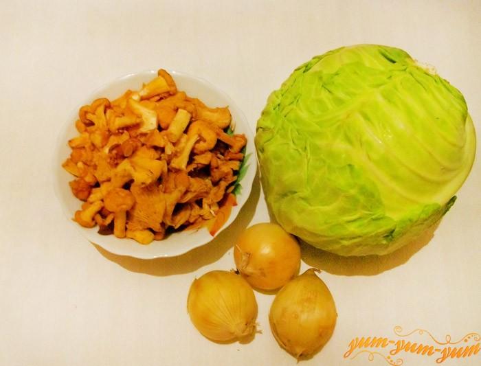 Ингредиенты для приготовления тушеной капусты