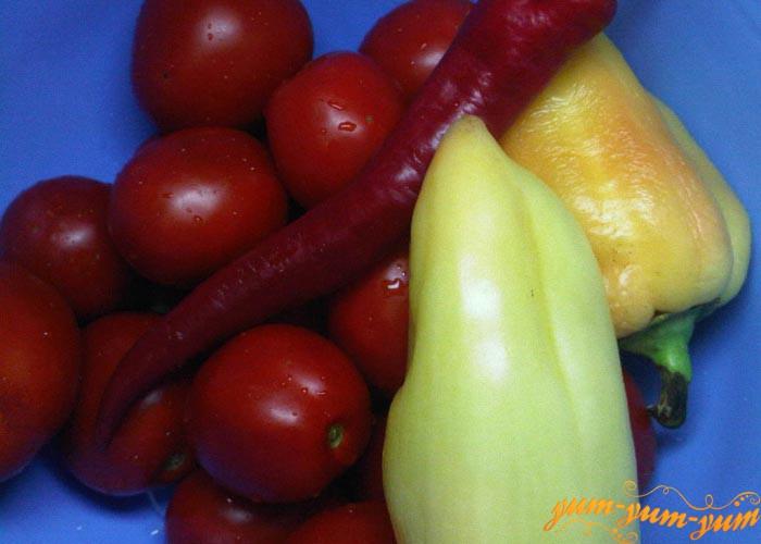 Перец и помидоры моем