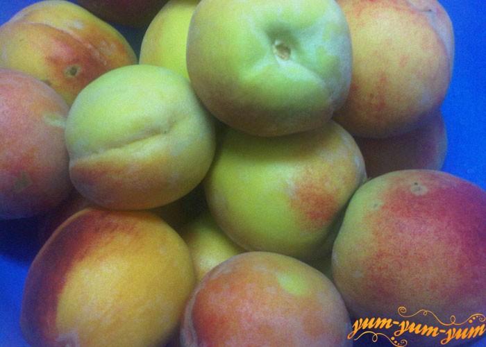 Персики хорошо моем