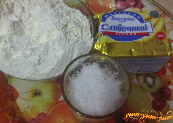 Подготовим маргарин, муку и пиво