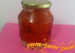 Приготовление кнсервированных половинок помидоров на зиму