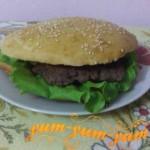 Рецепт гамбургера с говядиной в домашних условиях