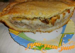 Рецепт губадии с мясом, рисом и сухофруктами