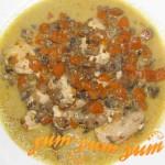 Рецепт куриного филе запеченного с тыквой и грибами