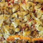 Рецепт куриного филе запеченного в духовке с помидорами и перцем