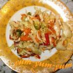 Рецепт салата Витаминный из свежей белокочанной капусты