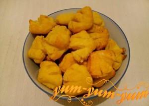 Рецепт творожного печенья - ракушки