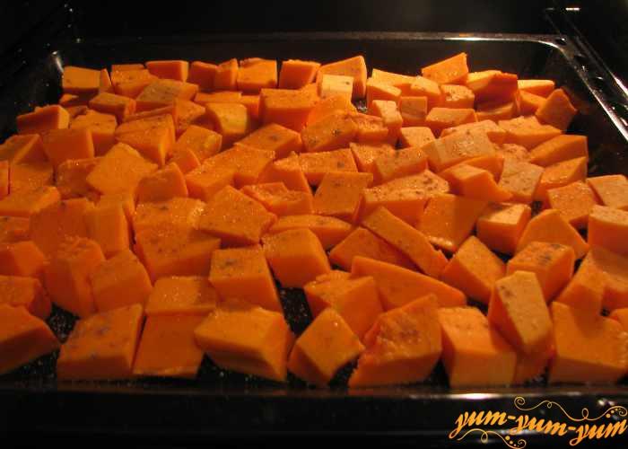 Тыкву для суфле запекаем в духовке