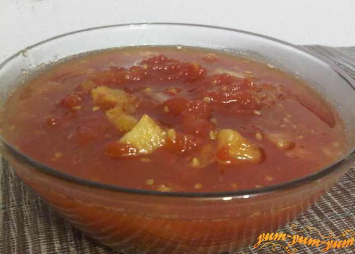Готовое варенье из красных помидор