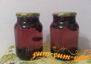 Рецепт домашнего компота на зиму из винограда