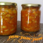 Рецепт фасоли с овощами на зиму