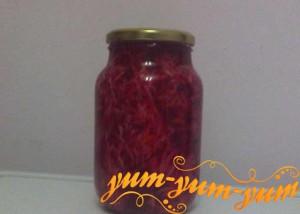 Рецепт маринованной капусты со свеклой