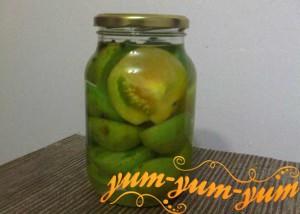 Рецепт маринованных зеленых помидор на зиму