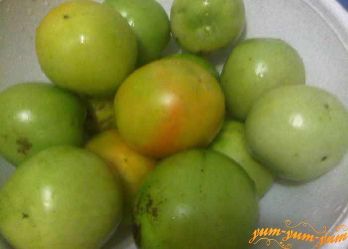 Зеленые помидоры для икры моем