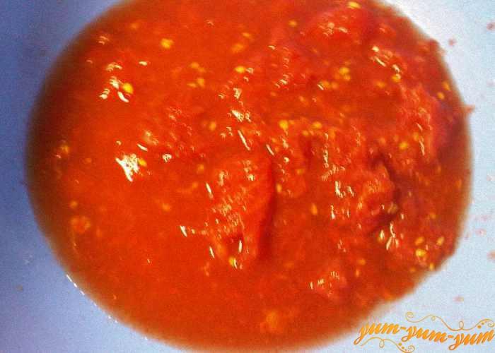 Из помидоров готовим пюре