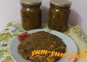 Рецепт икры из кабачков и баклажанов