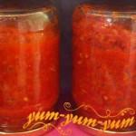 Рецепт нежной аджики из яблок и помидор